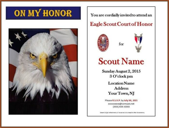 Eagle Scout Invitations Template Free