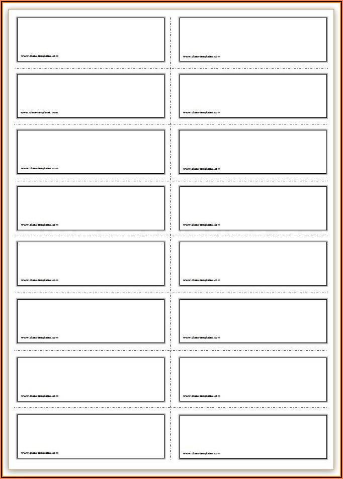 Editable Blank Flash Card Template