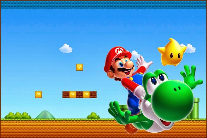 Editable Super Mario Invitations Template Free