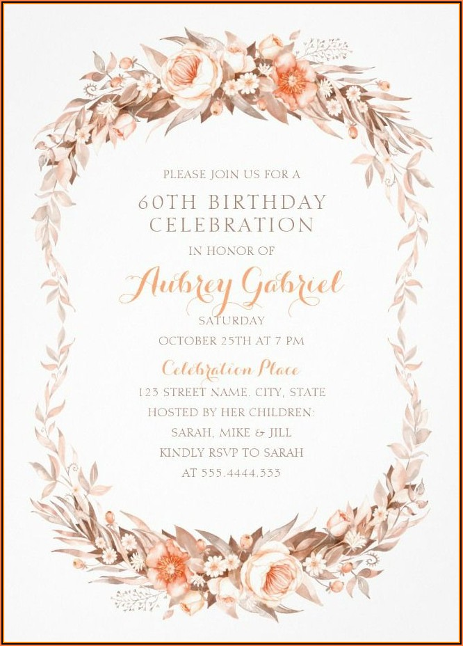 Elegant Birthday Invitation Templates