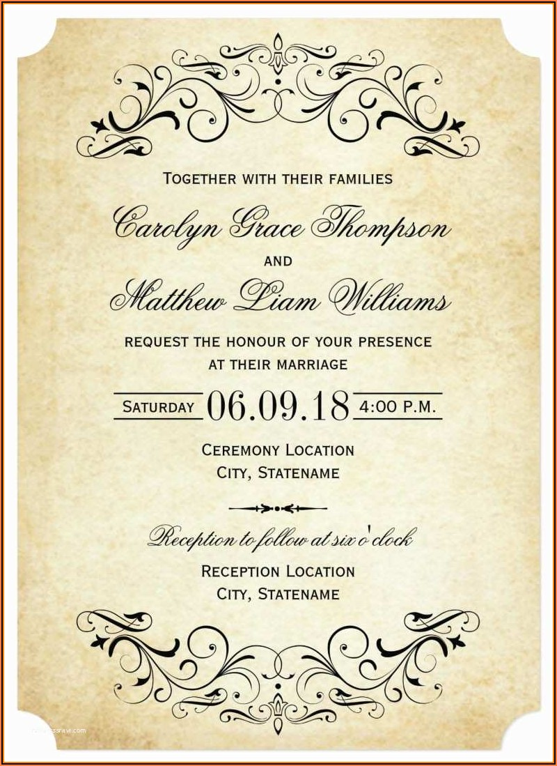 Elegant Invitation Templates Free