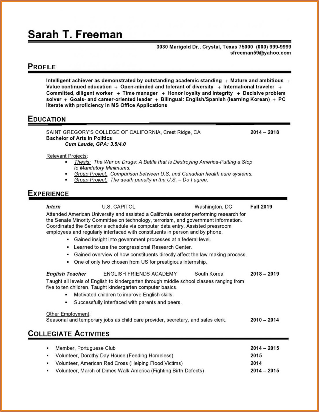 Entry Level Nurse Practitioner Resume Template