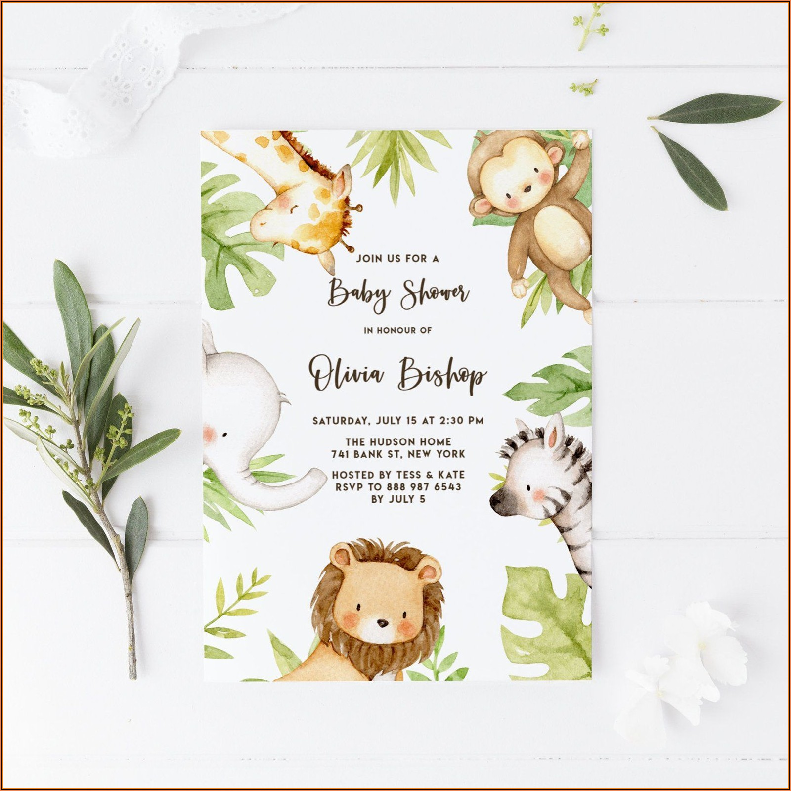 Etsy Baby Shower Invitation Templates