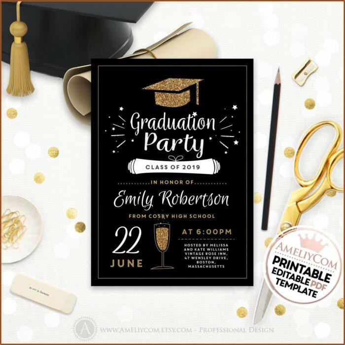 Etsy Graduation Invitation Templates