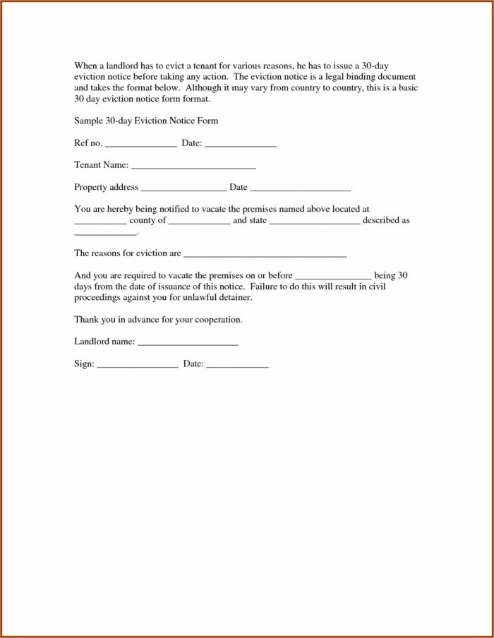 Eviction Notice From Parents Template