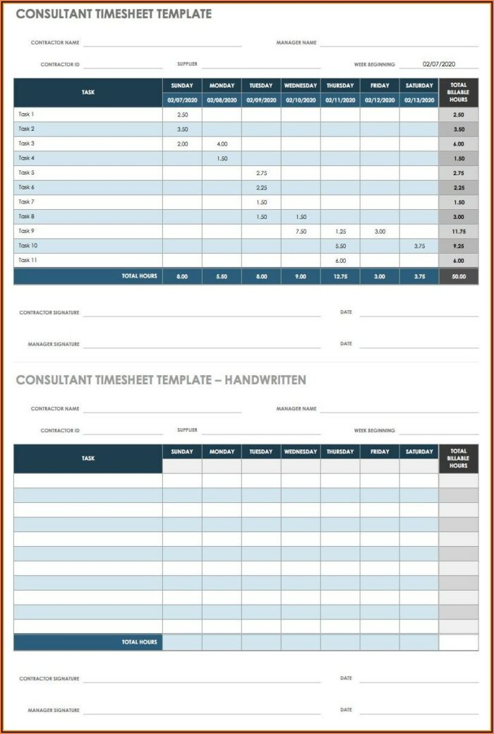 Excel Timesheet Template For Multiple Employees