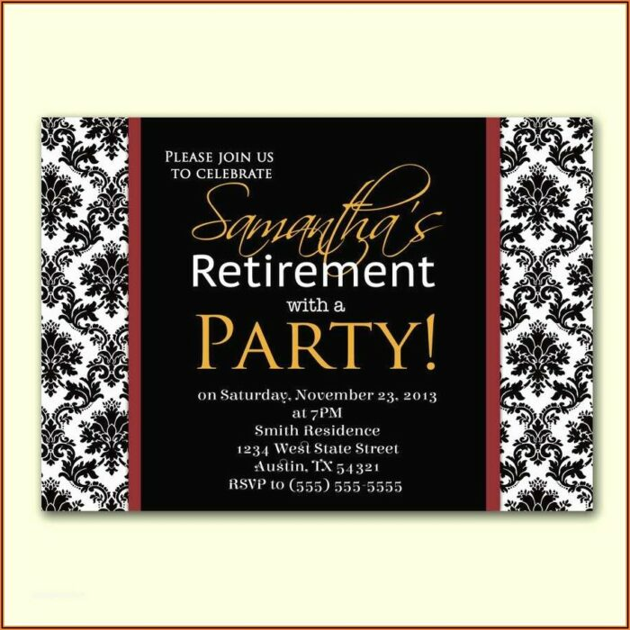 Fancy Dinner Invitation Template
