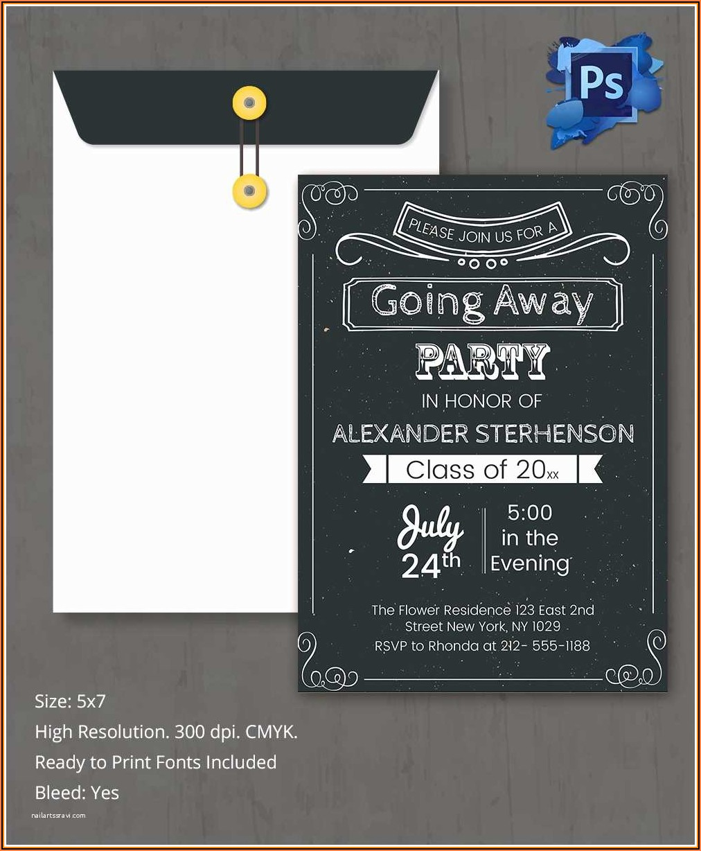 Farewell Invitation Card Template Free