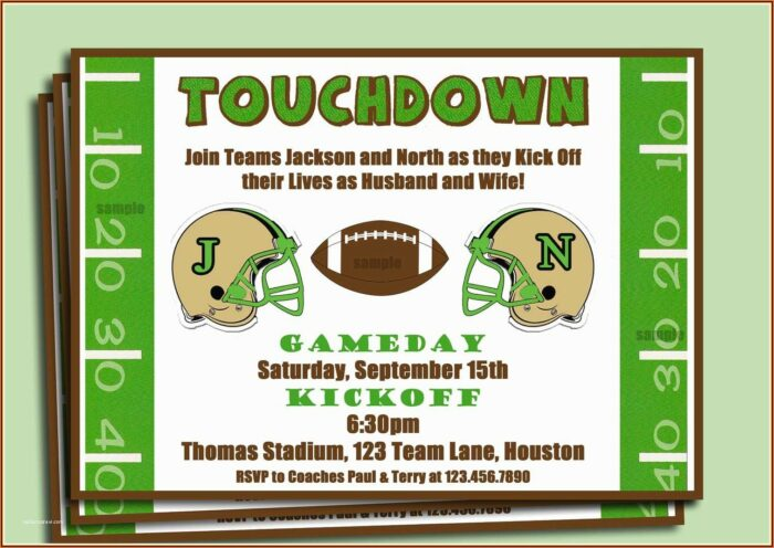 Football Ticket Party Invitation Template Free
