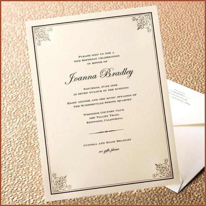 Formal Dinner Invitation Template Word