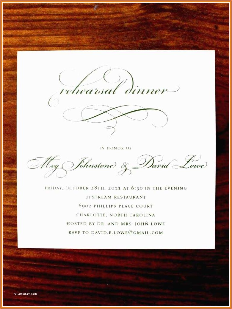 Formal Dinner Invitation Wording
