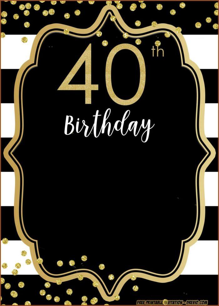 Free 40th Birthday Invitation Templates