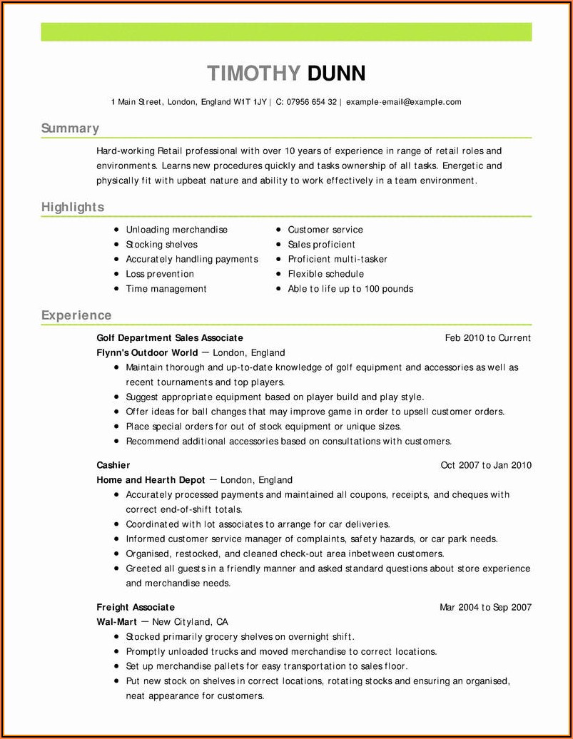 Free Acting Resume Template 2018