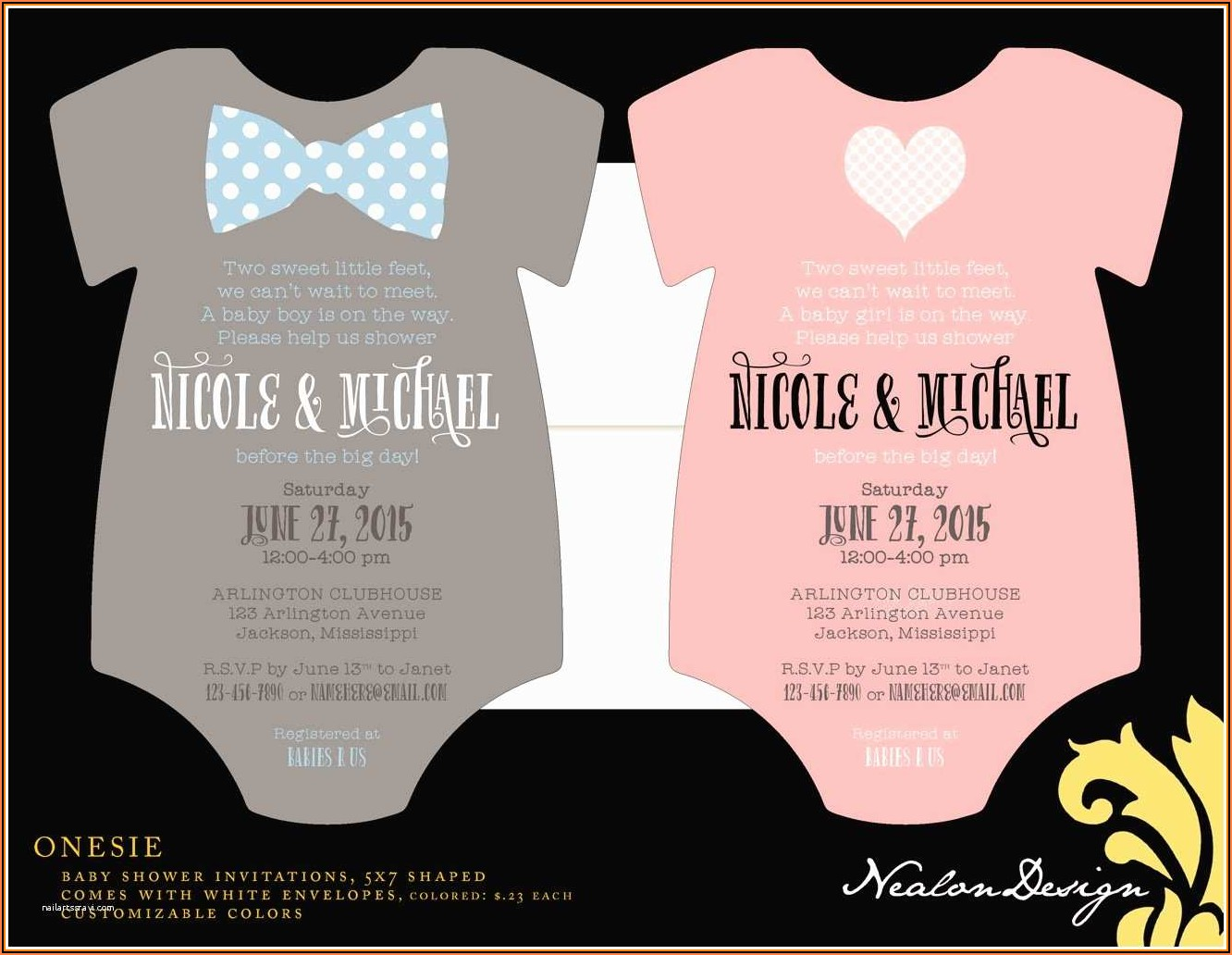 Free Baby Shower Onesie Invitation Templates