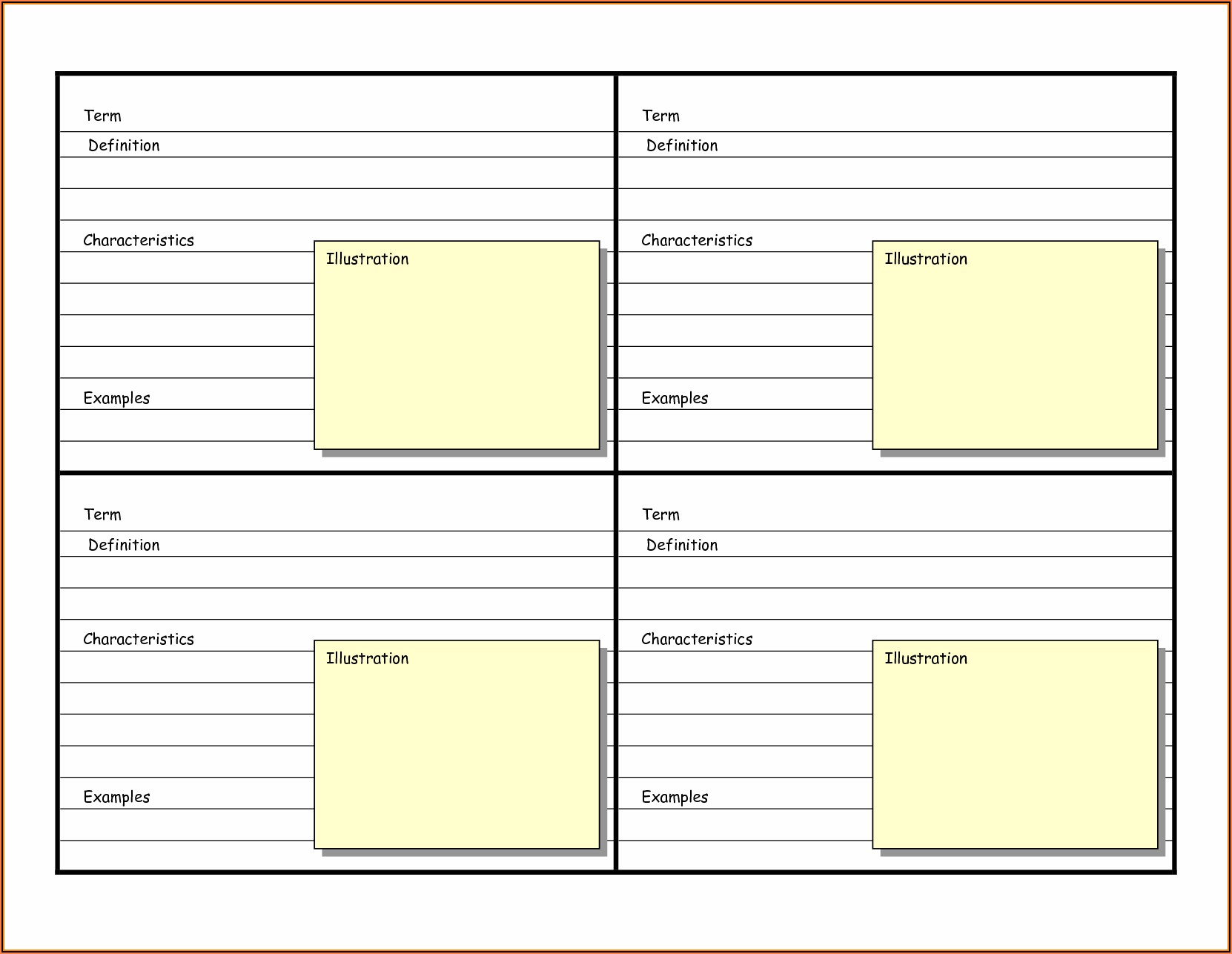 Free Blank Flash Card Templates Printable