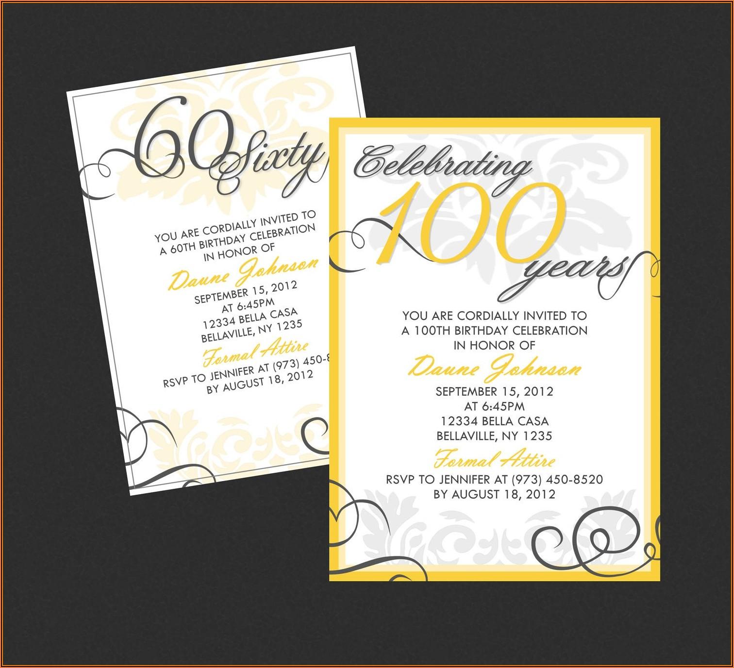 Free Classy Birthday Invitation Templates
