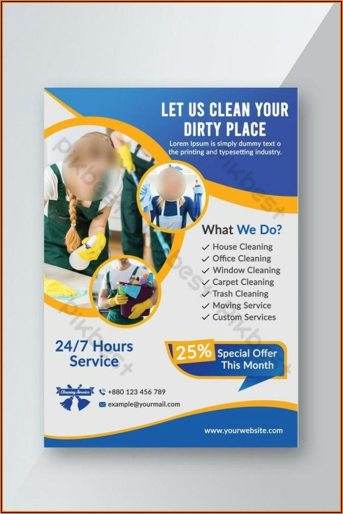 Free Cleaning Service Flyer Template Psd