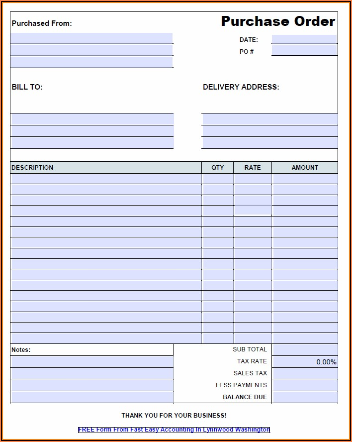 Free Construction Work Order Template