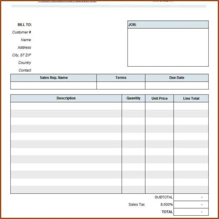 Free Consulting Invoice Template Word