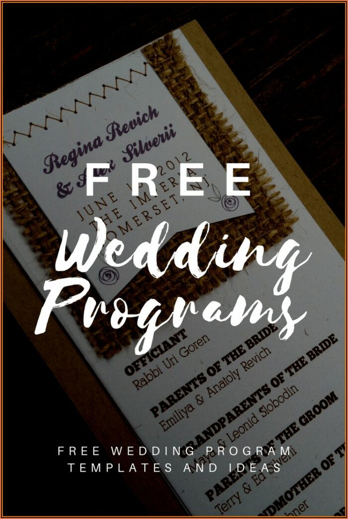 Free Downloadable Wedding Program Fan Template That Can Be Printed