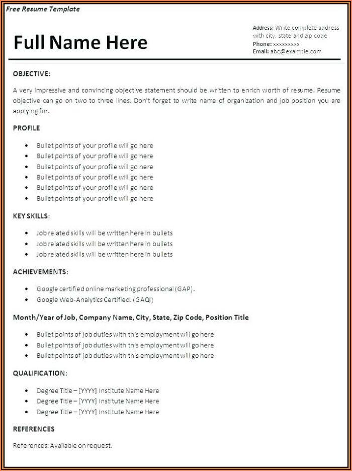 Free Dynamic Resume Templates