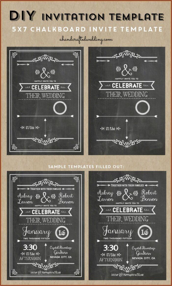 Free Editable Chalkboard Invitation Template