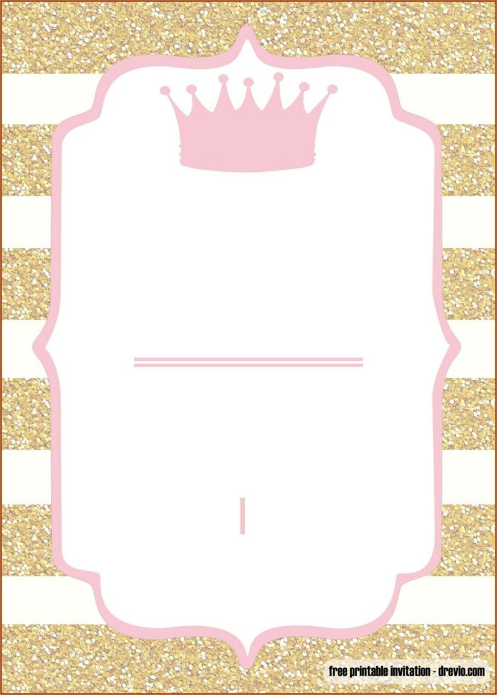 Free Editable Princess Baby Shower Invitation Templates