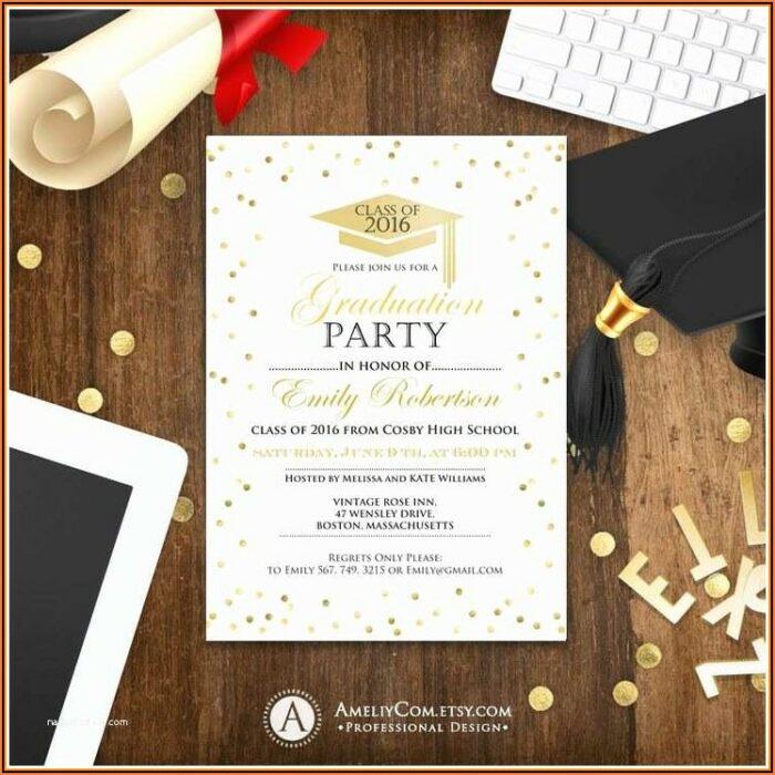 Free High School Graduation Invitation Templates