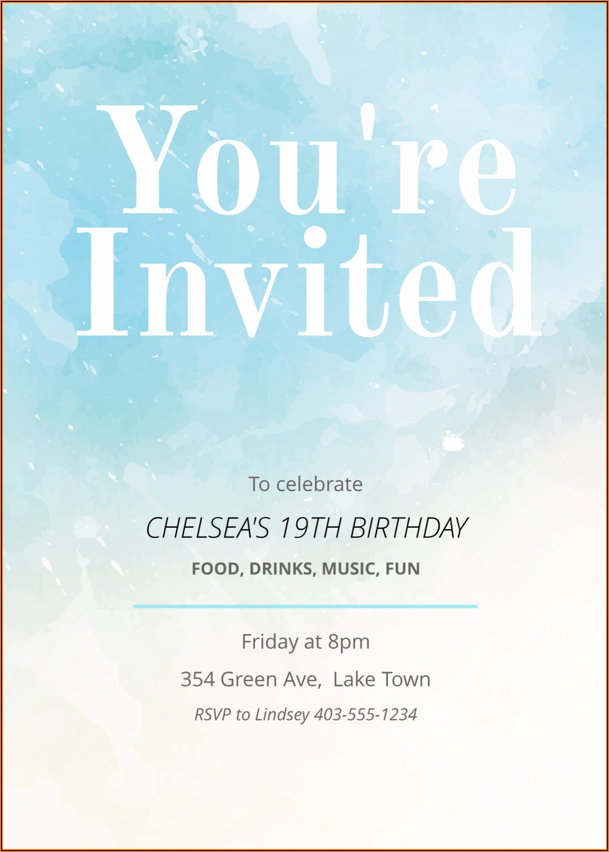 Free Invitation Card Template