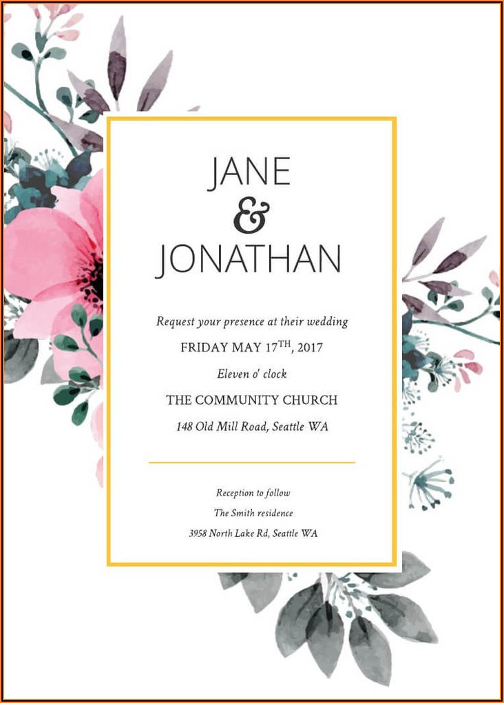 Free Invitation Card Templates