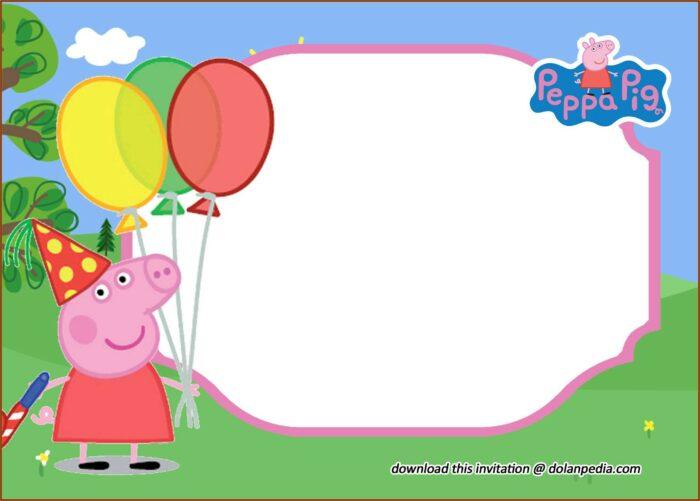 Free Peppa Pig Invitation Template Editable