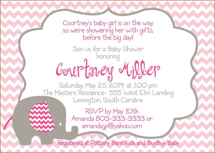 Free Princess Baby Shower Invitation Templates For Word