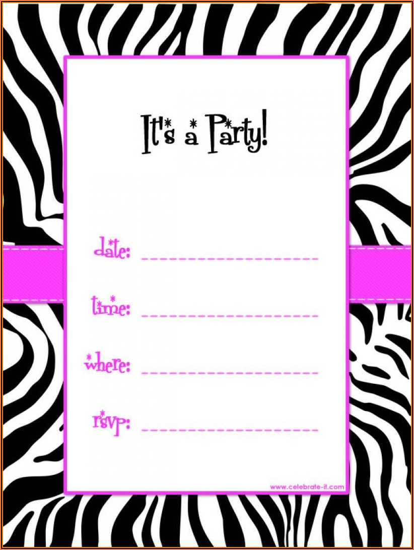Free Printable Birthday Invitation Templates Online