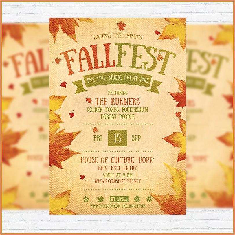 Free Printable Fall Festival Flyer Templates