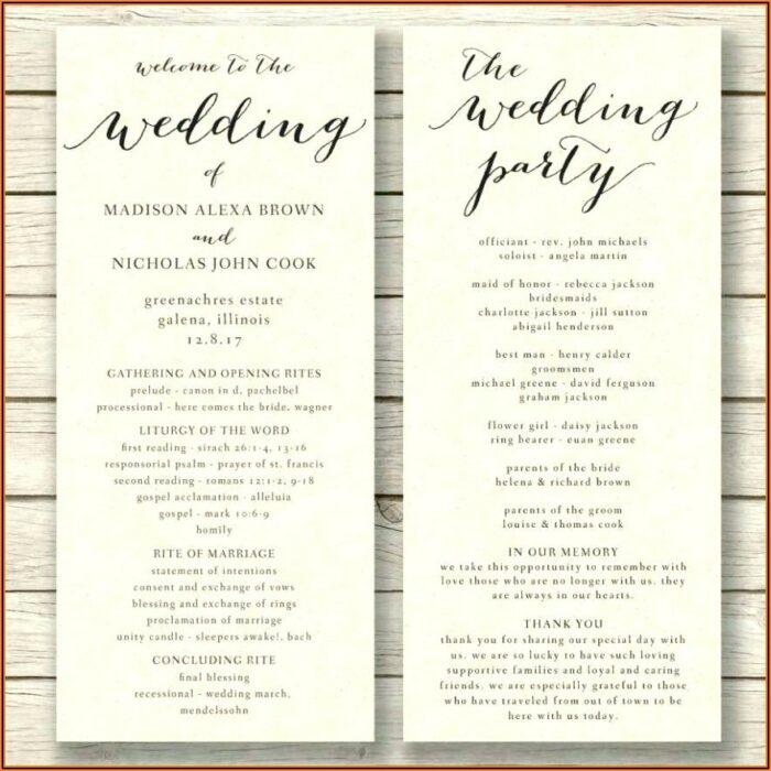 Free Printable Wedding Fan Program Templates