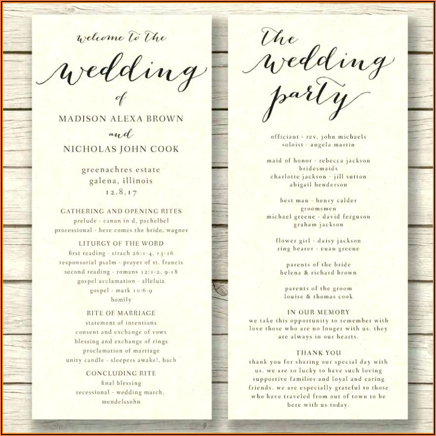Free Printable Wedding Fan Program Templates