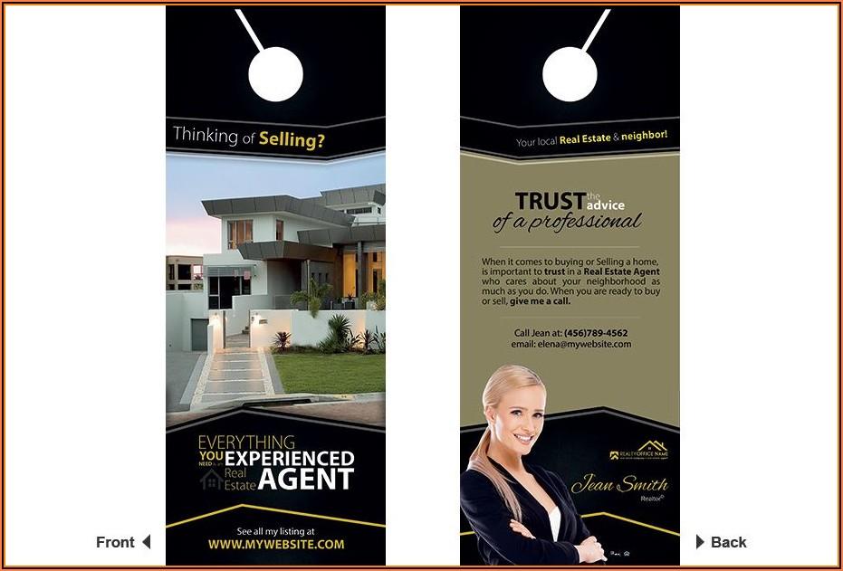 Free Real Estate Door Hanger Template