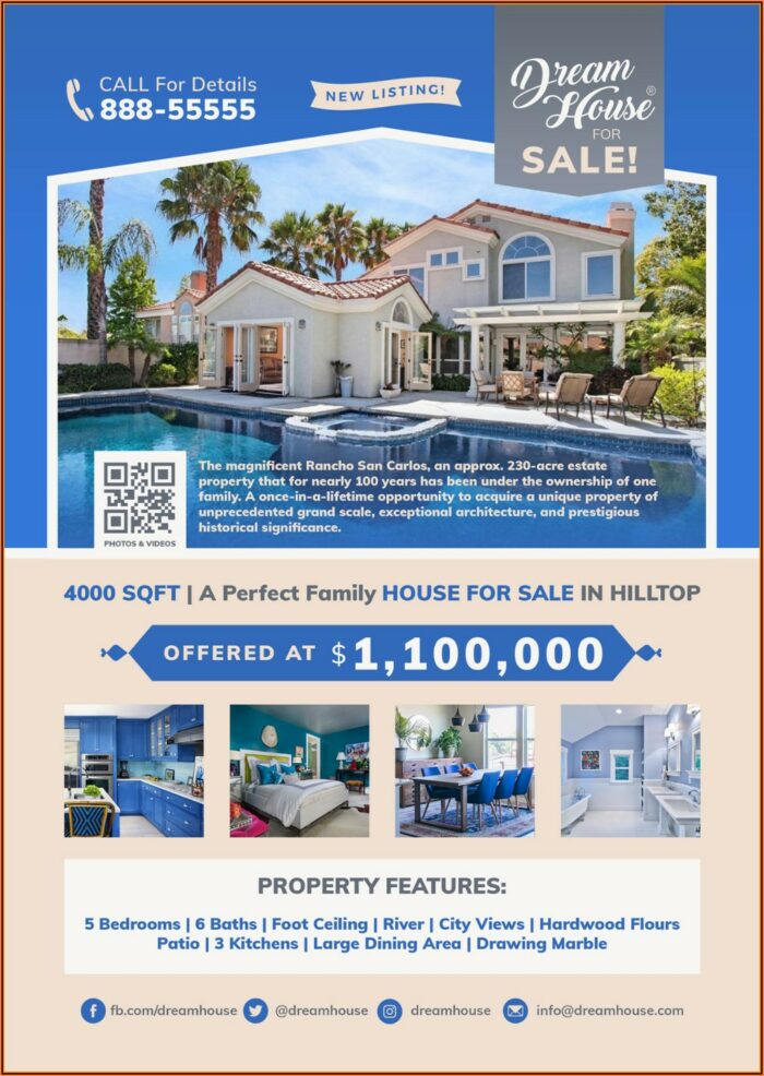 Free Real Estate For Sale Flyer Template