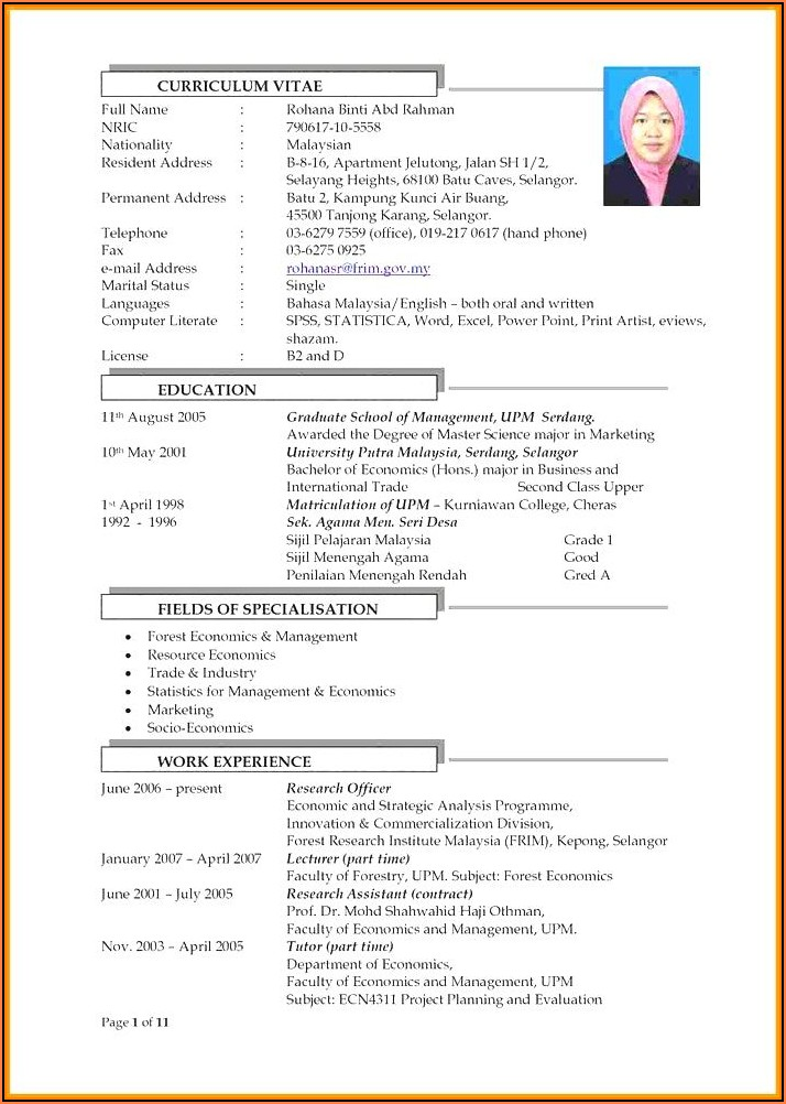Free Student Resume Template