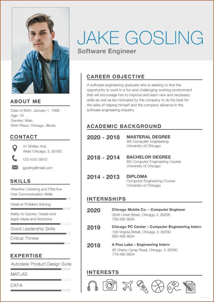 Free Student Resume Templates 2019