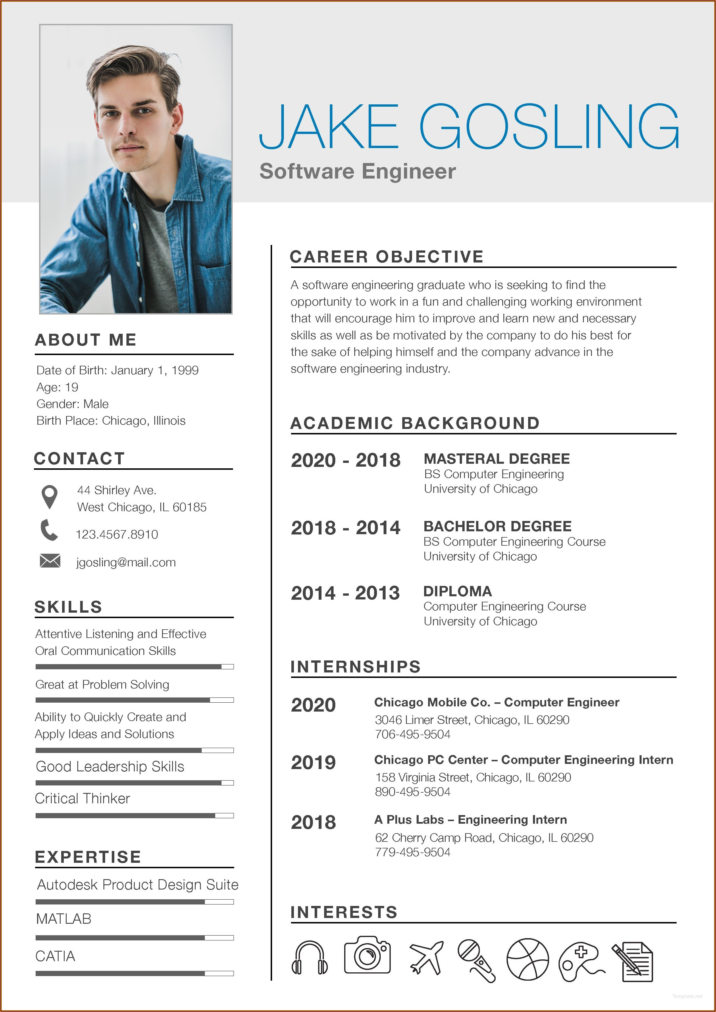 Free Student Resume Templates 2019
