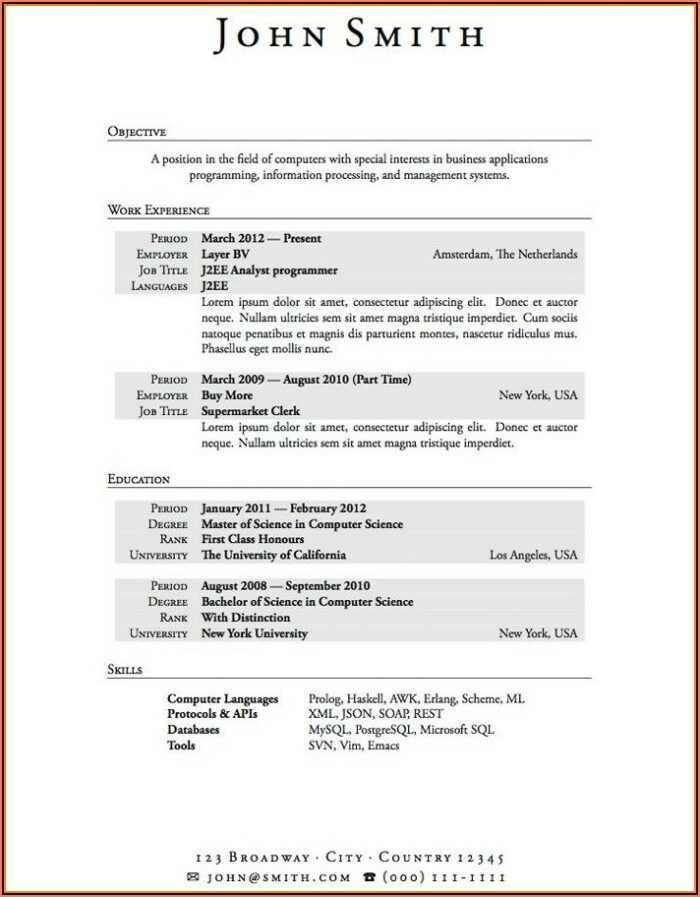 Free Student Resume Templates