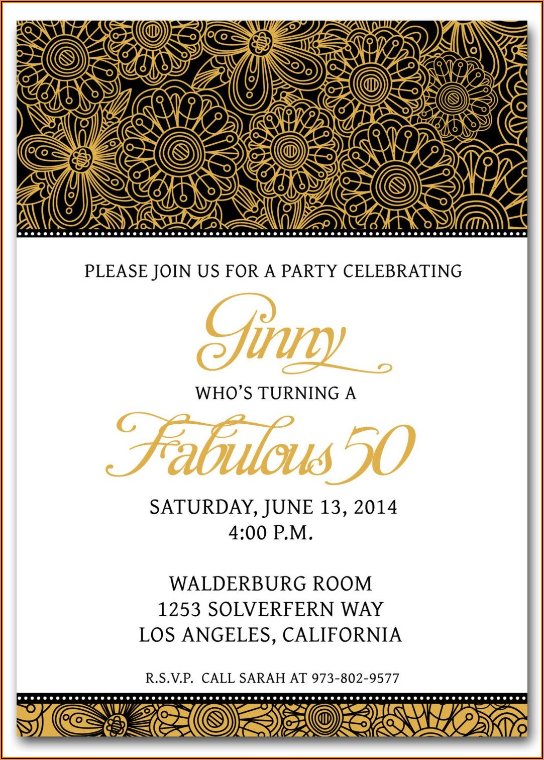 Free Surprise Party Invitation Templates For Word
