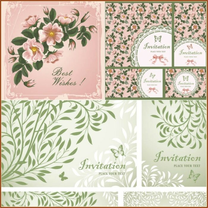 Free Vintage Wedding Invitation Templates Download