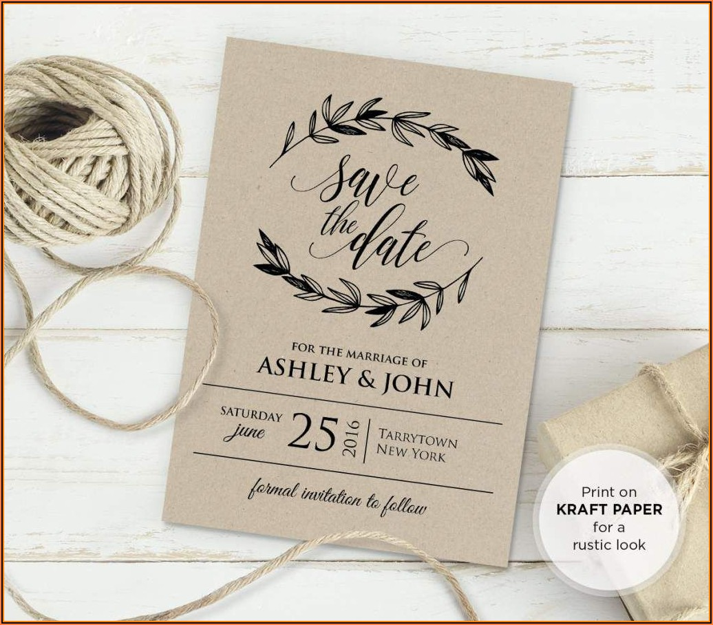 Free Vintage Wedding Invitation Templates