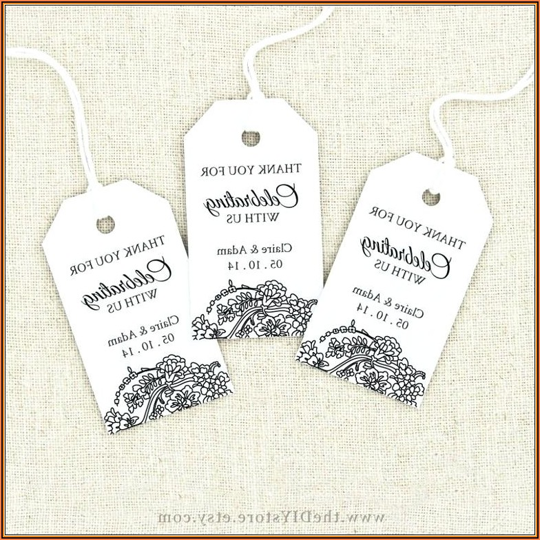 Free Wedding Favor Tag Template Printable
