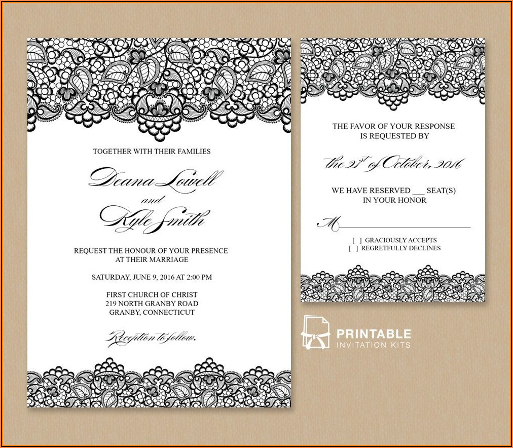 Free Wedding Vintage Invitation Template
