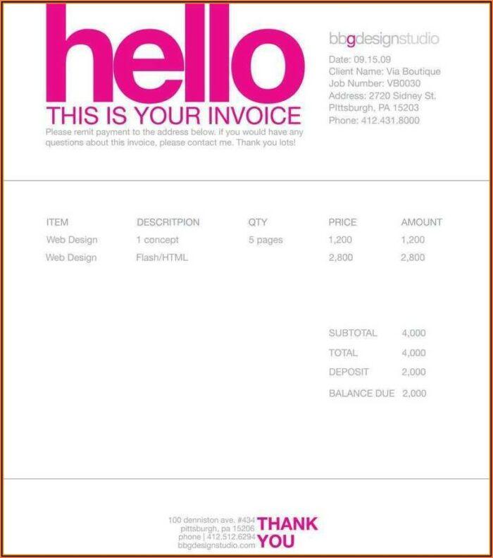 Freelance Graphic Design Invoice Template