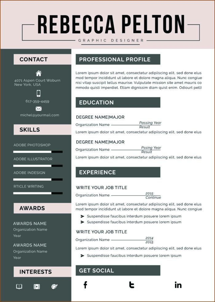 Functional Resume Template Free Microsoft