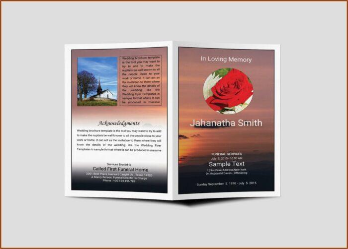 Funeral Program Template Free Psd